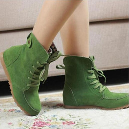 Hot Open Toe Boots Australia - Hot Ladies Boots Round Toe Flat Shoes Martin boots Woman Boots Solid Lace Up Womens Casual Shoes Comfortable Autumn Shoes k577