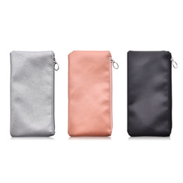 $enCountryForm.capitalKeyWord Australia - Solid color Leather Cosmetic Bags Pink silver black 3 colors mixed color Makeup Brushes Storage Bag