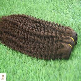 $enCountryForm.capitalKeyWord NZ - #8 Light Brown Color Hair Weave Bundles Malaysian Kinky Curly Weave 100% Human Hair Extension 10-30 Inchs Virgin Hair Weaving