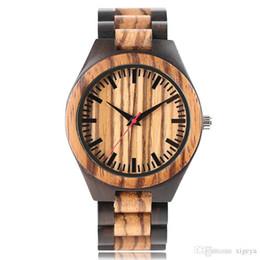 Round Clock Men Canada - Hot Sales Men Luxury Fashion Full Bamboo Wooden Watch Round Analog Creative Zebra Dial Wood Strap Wristwatches Quartz Clock Friendship Gift