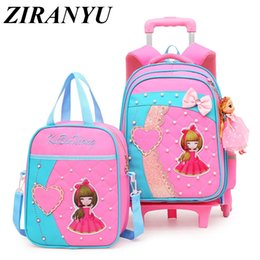 $enCountryForm.capitalKeyWord NZ - Children Trolley School Bag Backpack Wheeled School Bag For Grils Kids Wheel Schoolbag Student Backpacks Bags