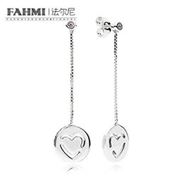 Pure gold stud online shopping - FAHMI Sterling Silver Glamour FPC Oorbellen Pure Liefde Original Women Wedding Fashion Jewelry Gift