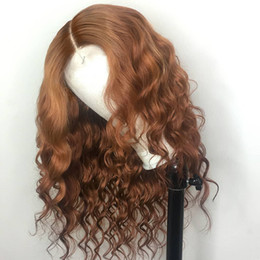 Curly blonde ombre hair online shopping - Curly Wig Remy Brazilian Lace Front Human Hair Wigs Ombre Color Blonde Color Full Lace Wig With Baby Hair