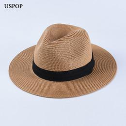 e52a0c4e Paper Sun Hats Wholesale Australia - USPOP 2019 Newest sun hats women men wide  brim straw