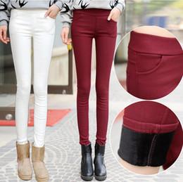 $enCountryForm.capitalKeyWord Australia - Spring High Waist Velvet Leggings Women's White Black Bodycon Trousers for Women Autumn Thicken Warm Pencil Pants 4XL Y190603