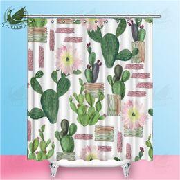 $enCountryForm.capitalKeyWord Australia - Vixm Cartoon Cute Hedgehog Sleeping Next To Cactus Shower Curtains Waterproof Polyester Fabric Curtains For Home Decor