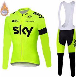 $enCountryForm.capitalKeyWord Australia - 2019 SKY Winter thermal fleece Set long sleeve Cycling Clothes men's Jersey suit Sport riding bike MTB clothing Bib Pants Warm sets