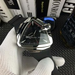 unique rubber NZ - New men's watch unique triangular case rubber strap Watch