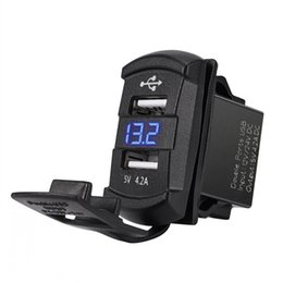 $enCountryForm.capitalKeyWord UK - MOTOPOWER MP0612A 12-24V 4.2Amp Dual USB Charger with Voltmeter LED Digital Display Universal for Car Boat Motorcycle RV (Modern)