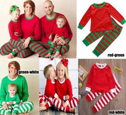 edeb8e6dc3 2018 Xmas Kids Boy Girls Adult Family Matching Christmas Deer Striped Pajamas  Sleepwear Nightwear Pyjamas Bedgown Sleepcoat Nighty 3 Colors