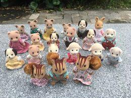 $enCountryForm.capitalKeyWord NZ - Geniune Sylvanian Families 10pcs Set Fuzzy Action Figures Squirrel Bear Dogs Mice Animal Doll Random New No Package