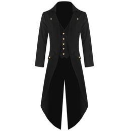 $enCountryForm.capitalKeyWord UK - Men Vintage Suit Jacket Long Tuxedo Vintage Steampunk Retro Tailcoat Single Breasted Gothic Victorian Frock Coat