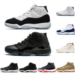 99355136 Nike Air Jordan 11 Retro 11 Platinfarbton Concord 45  Herren-Basketballschuhe 11s XI-Mütze und Kleid Olive Lux Gamma Blue UNC  Trainer-Turnschuhe