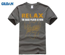 music man guitars Australia - T Shirts For Men Bass Playerrelax The Bass Player Is Here Acoustic Electric Guitars Music Man O Neck Short Man T Shirt