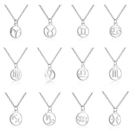 Women Birth Zodiac Lucky Stone Heart In Bar Choker Necklace Rectangle Stainless Steel Blank Mirror Polished Gift Necklace Jewellery & Watches