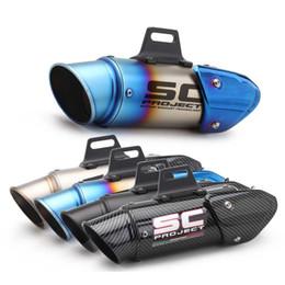 Опт 51мм 60мм GP Выхлопная Motocycle Глушитель трубы Модифицированный побег Мото Sliencer Laser SC Для PCX125 Z800 Z900 S1000RR CBR1000RR