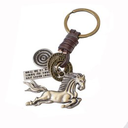 Discount fine horse - Chinese Zodiac A Horse Real Key Buckle Customize New Pattern Originality Personality Fine Horse Metal Key Buckle Customi