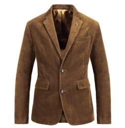 Mens sliM fit corduroy suit online shopping - Mens Suit Retro Fashion Casual Corduroy Slim Fit Solid Color Mens Suit Male Personality Jacket Large Size M XL
