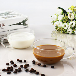 Porcelain coffee cuPs sPoons online shopping - Single Layer Big Belly Glasses Coffee Milk Juice Cup Fashion Transparent Coffee Mugs Best Selling Products sd Ww
