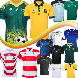Chinese  Thailand 2019 Samoa Australia Rugby Jersey fiji WALLABIES BLACKS 2019 Janpan World Cup Kangaroos Rugby Shirt Jersey S-5XL manufacturers