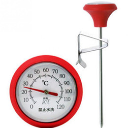 Oven Thermometer Steel NZ - Stainless Steel Probe Thermometer Kitchen Food Cooking Milk Coffee Safely Useful