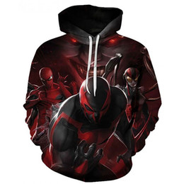 women superhero halloween costumes 2020 - Hoodies Pullover Sweatshirts 3d Avengers Infinity War Iron Spider Halloween Sweater Spiderman Superhero Men Women Unisex