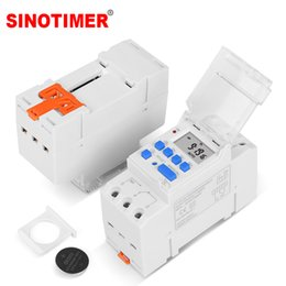 din rail switches UK - TM919 5V 12V 24V 110V 230V Weekly 7 Days Programmable Digital Time Switch Relay Timer Control 16A Din Rail Mount