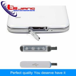 Block Charge Australia - wholesale Original Plug For Samsung S5 G900F USB Cover Flap USB Data Charging Port Dust Plug Block Water Proof Cover