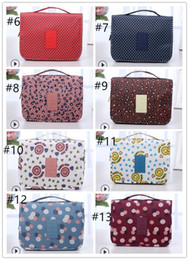 Newest Portable Foldable Makeup Bag With Hanger Travel Cosmetic Bag  Toiletry Bathroom Wash Storage Organizer Cosmetic Pouch Hanging Bag 2600bd88251d0