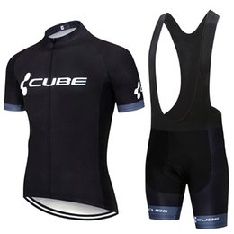 Cube Bicycle Clothing Australia - NEW Men 2019 Summer CUBE team Cycling Jersey set Men Bicycle Clothing Racing Sportswear Breathable Quick dry Short Sleeve MTB Bike Clothes