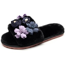 $enCountryForm.capitalKeyWord UK - 2019 New Women Slippers Korean Version Of Outside Autumn And Winter Flowers Cute Fur Slippers Indoor Warm Plush Cotton