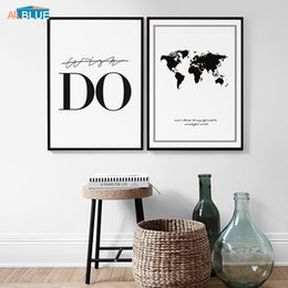 $enCountryForm.capitalKeyWord Australia - Canvas Poster Nordic Wall Art Black And White Print Painting Wall Pictures For Living Room Do Quote Decorative Home