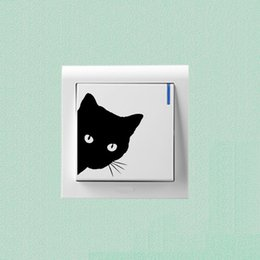 3d Hole View Vivid Cats Wall Sticker Decals Hole View Bathroom Toilet Refrigerator Computer Cup Wardrobe Door Decor Decal Poster Making Things Convenient For The People Active Components