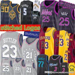 6cca60667 City 23 Jimmy   Butler 25 Derrick   Rose Jersey 76ers Timberwolves 30  Stephen   Curry 34 Antetokounmpo Luka 77 Doncic sales