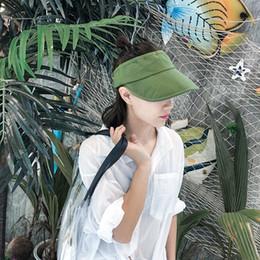 $enCountryForm.capitalKeyWord Australia - 10pcs lot 01807-pei06403 summer solid without linen leisure lady bucket cap men women sun hat wholesale