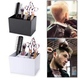 Hair Holder Comb Australia - 1pc Hairdressing Scissors Comb Holder Case Antislip Hair Clips Storage Box Tool Pro Salon Storage Box Supplies Tools