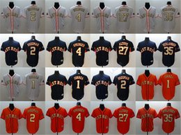 verlander jersey Australia - Men Women Youth Gold Program Astros 27 Jose Altuve 35 Justin Verlander Houston 4 George Springer 1 Carlos Correa 2 Alex Bregman Jerseys