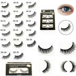 $enCountryForm.capitalKeyWord UK - 3D False Eyelashes 3pairs set Hand Made Beauty Natural Long Makeup Lashes Extension Eye Lashes Eyelash 17 Styles