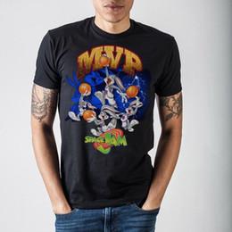 5c1568ec935 Space Jam Bugs MVP Black T-Shirt high quality free shipping cheap wholesale  100% Cotton Short Sleeve
