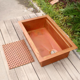 $enCountryForm.capitalKeyWord Australia - Single bowl kithen sink copper Smooth surface copper bar sink Undermount or drop in installation copper kitchen sink
