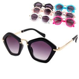 Wholesale Beach Kids Sunglasses Australia - Children cute diamond frame sunglasses outdoors travel colorful types shiny beach pentacle glasses eyes protection good kids gifts LJJQ191
