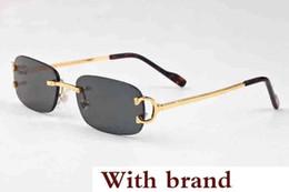 $enCountryForm.capitalKeyWord NZ - Luxary- Quality Rimless Sunglasses Women Designer Retro Buffalo Sunglasses Classic Female Gradient Sun glass Men Vintage Sun Glasses