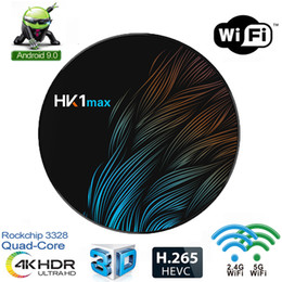 Android Quad Tv 4k Canada - HK1 MAX Android 9.0 TV Box RK3228 Quad Core Dual Wifi 2.4G 5G BT4.0 4K USB 3.0 Media Player