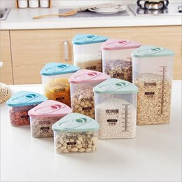 Discount bamboo boxes - Plastic Kitchen Cereal Grain Bean refrigerator Storage Box Container Box Cases Hot Sale grains storage Boxes