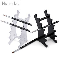 nail acrylic storage NZ - Nail Brushes 1 Set Nail Art Brush Holder Nails Salon Brushes Pen Rack Accessory Carving Carrier Storage Manicure Tool Acrylic Holder Stand