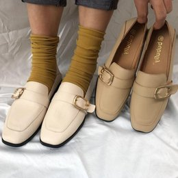 $enCountryForm.capitalKeyWord Australia - Current2019 Shoes Leather Small Woman England Season Increase Down Black Single Shoe School The Wind All-match One Pedal Le Fuxie