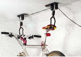 $enCountryForm.capitalKeyWord Australia - Bicycle Lift Ceiling Mounted Bicycle Display Rack Hoist Storage Garage Hanger Pulley Rack Metal Black Lift Assemblies #233458