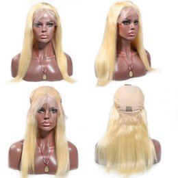Blonde virgin hair lace front online shopping - XBL Front Lace Wig Blonde for Women with Baby Hair Glueless Brazilian Virgin Human Hair Wigs