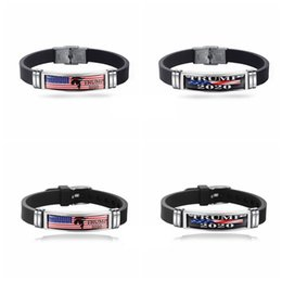 free drawing art UK - New Donald Trump Bracelet Make America Great Again Commemorative Wristband 2020 The US President Election Supplies Free Shipping