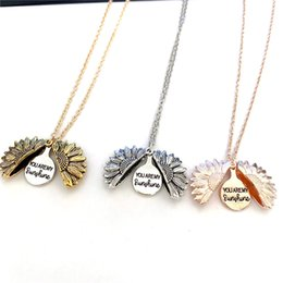 necklaces pendants Australia - NEW FASHION You are My Sunshine Open Locket Sunflower Pendant Necklace Watch Over me Faith Truth